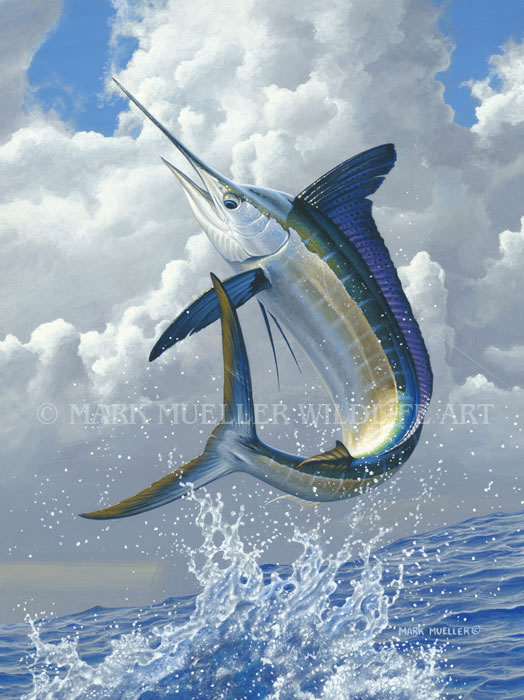 Marlin painting by Mark Mueller